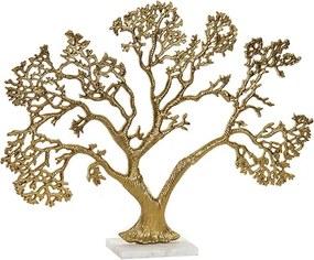 Statueta Golden Tree din metal auriu 46 cm