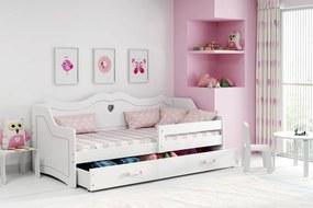 copii pat Julia cu spate - alb  160x80 cm Juliett