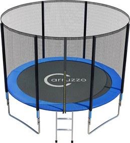 Trambulină de 305 cm + plasă de siguranță și scări Caruso