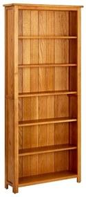 Bibliotecă cu 6 rafturi, lemn de stejar, 80 x 22,5 x 180 cm