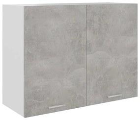 801280 vidaXL Dulap suspendat, gri beton, 80 x 31 x 60 cm, PAL