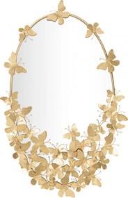 Oglinda de perete Oval Butterfly Glam 59x3x89,5 cm