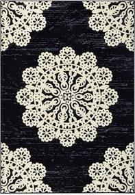 Covor Hanse Home Gloria Lace, 80 x 150 cm, negru