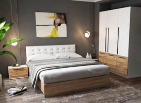 Set Dormitor Timea 4 piese Tapitat Alb