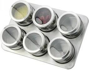 Set Condimente Grunberg cu Suport Magnetic,7 piese, Inox