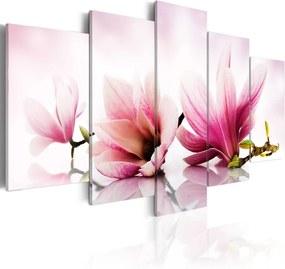 Tablou - Magnolias: pink flowers 100x50 cm