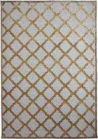 Covor din vascoza gri/auriu cu romburi Provence  (6 dimensiuni: de la 60x110 pana la 240x340cm) - 60x110