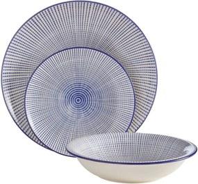 Set 12 farfurii din gresie ceramică Premier Housewares Maya