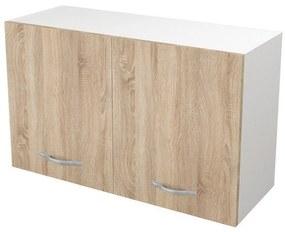Cabinet suspendat bucatarie, 80x30x50 cm, PAL Alb/Stejar
