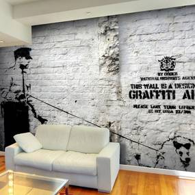 Fototapet Bimago - Banksy - Graffiti Area + Adeziv gratuit 350x245 cm