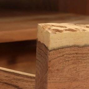 246128 vidaXL Comodă TV, lemn masiv de salcâm cu muchii naturale 120x35x40 cm