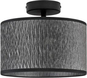 Plafoniera negru texturat din otel si textil Milla Basic Bulb Attack