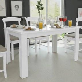 243056 vidaXL Masă de bucătărie 140 x 80 x 75 cm, Alb