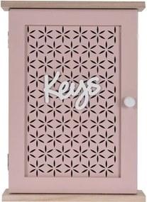 Cutie de chei Tranto, roz, 28 x 20 cm