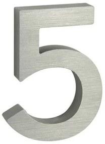 Număr aluminiu de casă suprafață șlefuită 3D