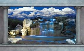 Waterfall Fototapet, (368 x 254 cm)