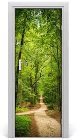 Autocolante pentru usi Calea în pădure