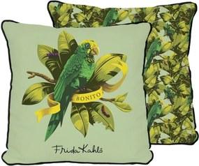Față de pernă reversibilă Madre Selva Bonito Green, 45 x 45 cm