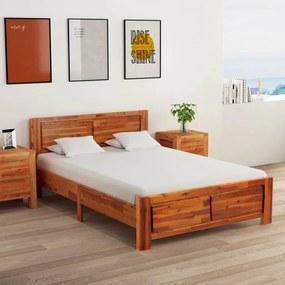 288317 vidaXL Cadru de pat, 120 x 200 cm, lemn masiv de acacia