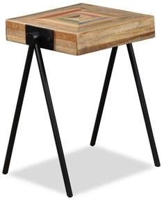 245408 vidaXL Masă laterală, lemn masiv de tec reciclat