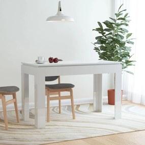 800762 vidaXL Masă de bucătărie, alb lucios, 120 x 60 x 76 cm, PAL