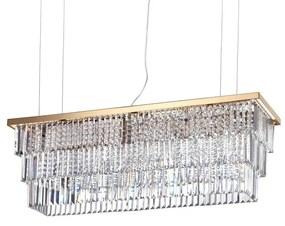 Lustră de cristal pe cablu Ideal Lux MARTINEZ 8×E14/40W/230V