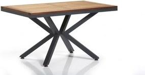 Masa de gradina / terasa din aluminiu si lemn Sydney Natural / Antracit, L150xl90xH77 cm
