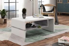 FOLK alb / beton, masă de cafea