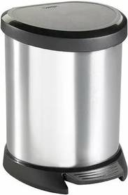 Curver Coș de gunoi Decobin 5 l, argintiu