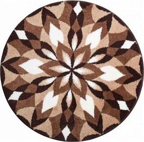 Covor cu ajustare anti-alunecare Mandala ARIPILE BUCURIEI - maro 60 cm