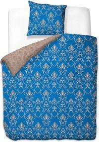 Lenjerie de pat din microfibră pentru pat de 1 persoană DecoKing Chandelier, 135 x 200 cm, albastru