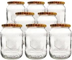 Orion Set borcane cu capac pentru conservare Albină 0,73 l, 8 buc.