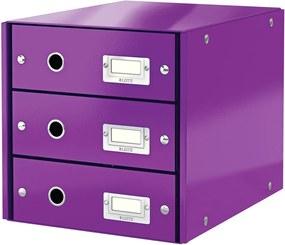 Cutie cu 3 compartimente Leitz Office, 36 x 29 x 28 cm, violet