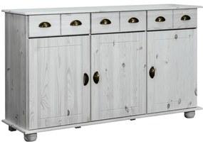 325539 vidaXL Servantă, 134x39x79,5 cm, lemn masiv de pin