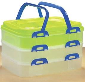 Orion Cutie portabilă din plastic pentru alimente, 3 tăvi