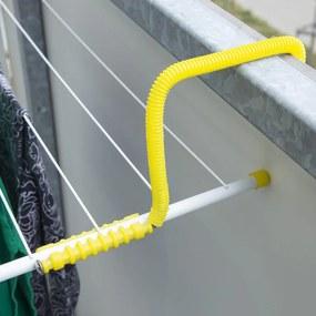 Uscător cu agăţătoare pentru balcon, lungime şnururi 4,5 m