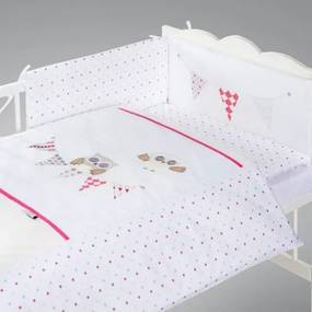 Set lenjerie brodata 2 piese Klups Night Birds - pink