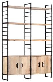 284417 vidaXL Bibliotecă cu 4 rafturi, 124 x 30 x 180 cm, lemn masiv de mango