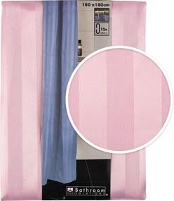 Draperie de duș Koopman Leona, roz, 180 x 180 cm
