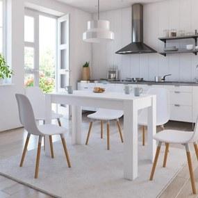 800432 vidaXL Masă de bucătărie, alb, 120 x 60 x 76 cm, PAL