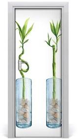Autocolante pentru usi Furnir autocolant de perete UȘI de bambus