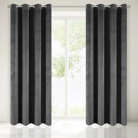Draperie neagră elegantă 140 x 250 cm Lungime: 250 cm