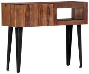 247748 vidaXL Masă consolă, 90x30x75 cm, lemn masiv de sheesham
