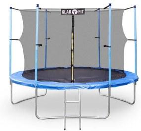 Klarfit Rocket Start XXL trambulină 305cm incl. Siguranța aluminiu net scara copertă albastra