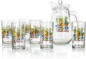 Set pahare cu ulcior Pineapple, 1 ulcior cu 6  pahare
