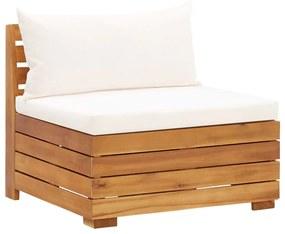 46687 vidaXL Canapea mijloc modulară cu perne, 1 buc., lemn masiv de acacia