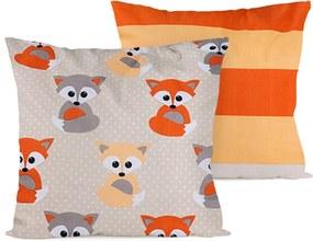 Față de pernă 4home Little Fox, 2 buc. 40 x 40 cm, 40 x 40 cm