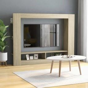 800741 vidaXL Comodă TV, stejar Sonoma, 152 x 22 x 113 cm, PAL
