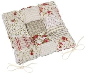 Pernă de scaun pătrată EMA Patchwork bej, 40 x 40 cm