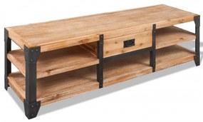 243913 vidaXL Comodă TV din lemn masiv de acacia 140 x 40 x 45 cm